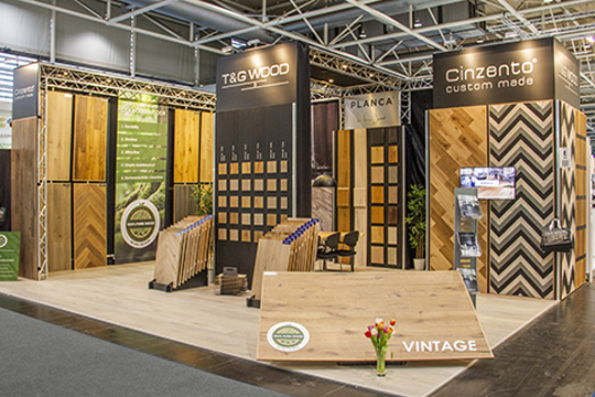 Stand T&G Wood Domotex 2019