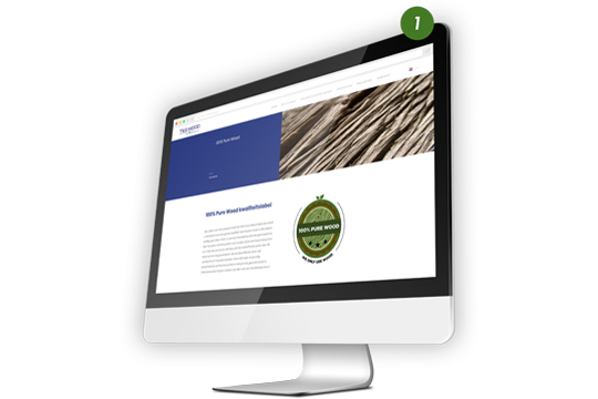 100% Pure Wood website