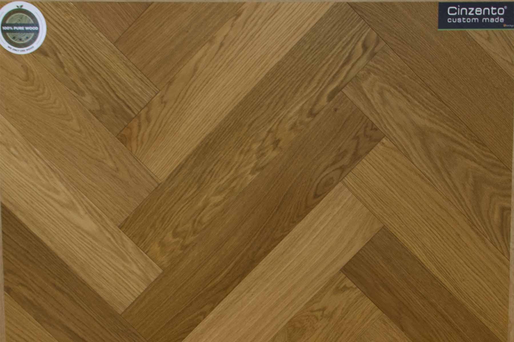 Herringbone 15/4 x 120 x 600 mm Euro. Oak Nature 4-sides bevel