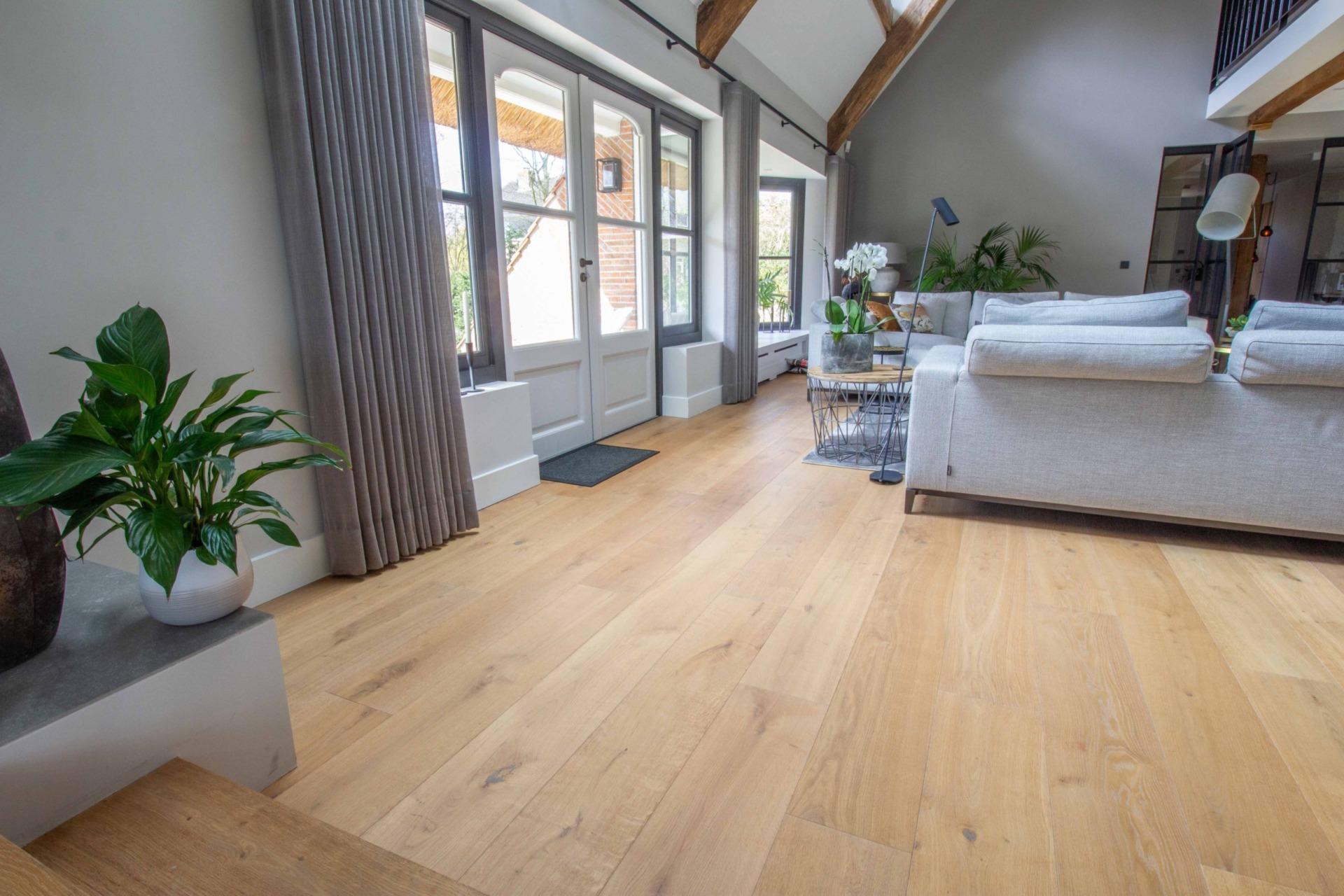 Rustic plank floor